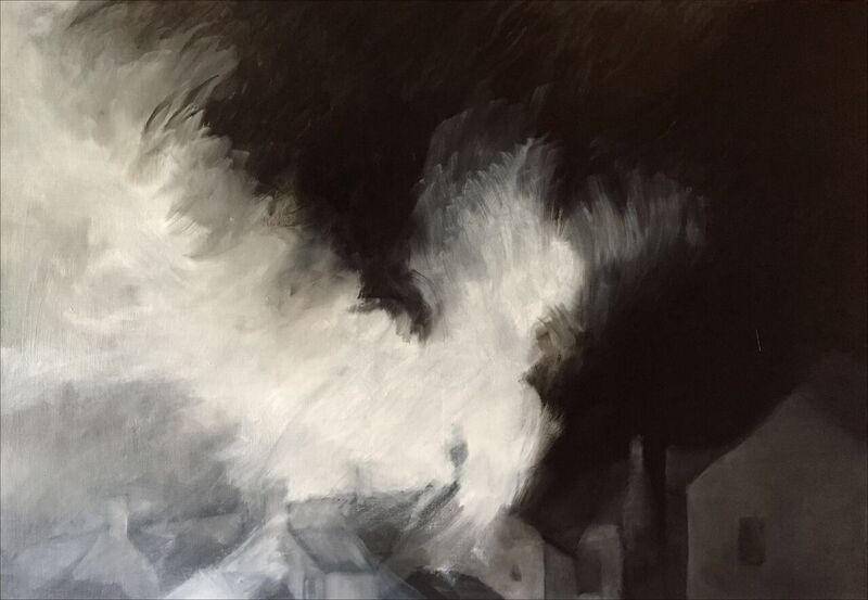 Dramatic Charcoal City and Landscapes by Mick Stump