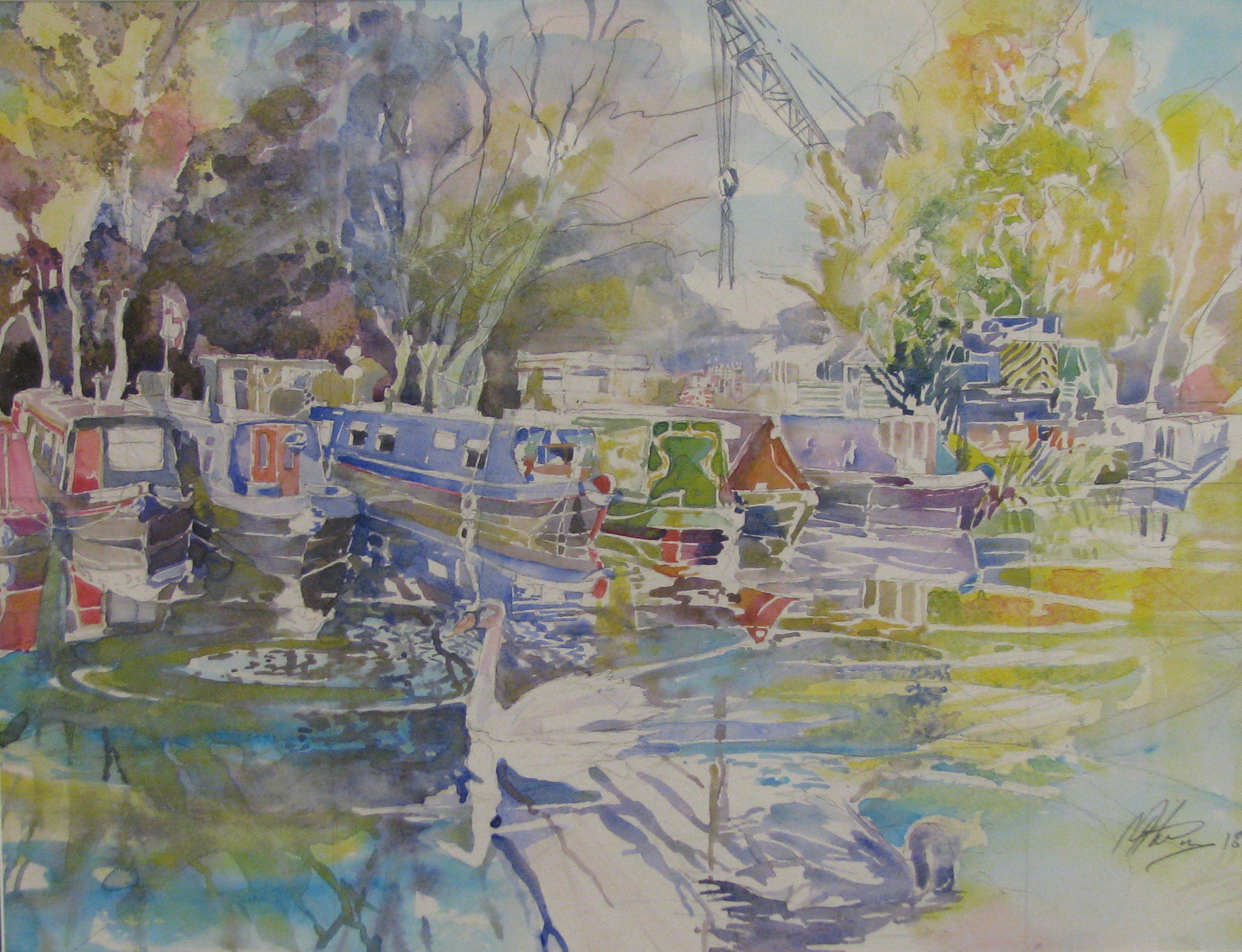Mike Helmy's latest display of watercolours
